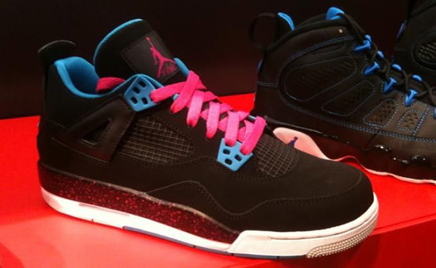 Air Jordan 4 GS Black Dynamic Blue-Vivid Pink  6b4f917a8