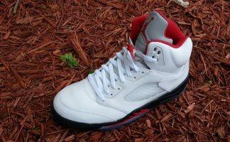sale retailer 6db2d 16af4 Air Jordan 5 White Fire Red-Black