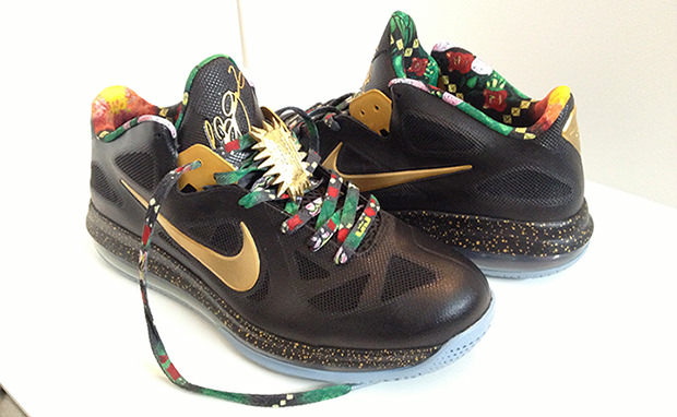 "info for f05c3 6bb30 Nike LeBron 9 Low ""Watch the Throne"" Custom"