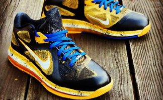 "Nike LeBron 9 Low ""Killer Bees Blue In"" Custom"