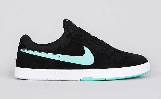 nike sb koston 1 black / crystal mint belle scarpe