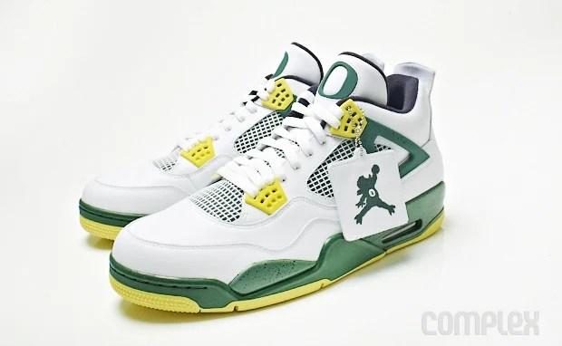 """premium selection b0757 93264 Air Jordan 4 """"Jumpduck"""" Oregon PE Detailed Images"""