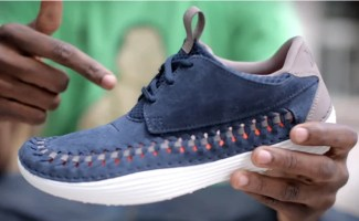 new products 7aec6 83aa2 Live Look  Nike Solarsoft Moccasin Premium Woven