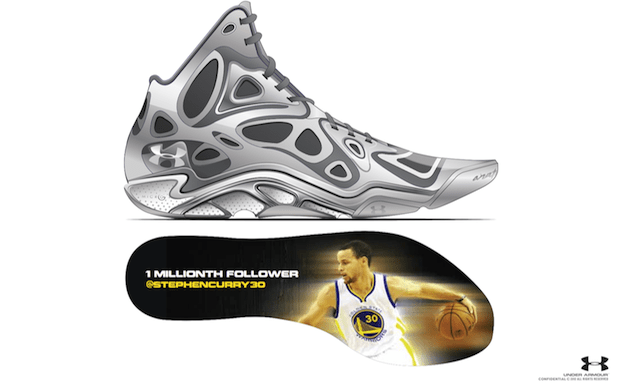 Stephen Curry Creates Under Armour Anatomix Spawn for 1 Millionth Twitter  Follower | Nice Kicks