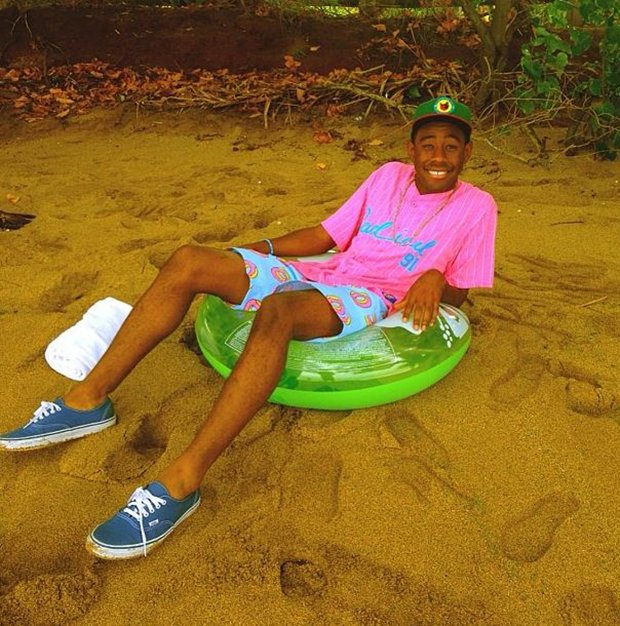Tyler, the Creator in the Vans Authentic