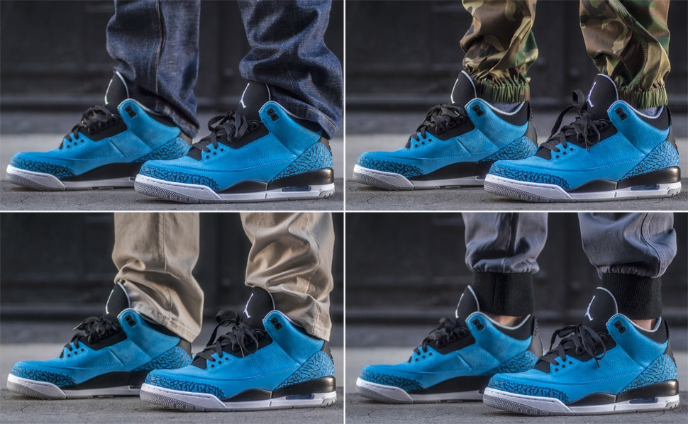 7727797e62a41c ... closeout on foot look air jordan 3 powder blue ceb6f 66523