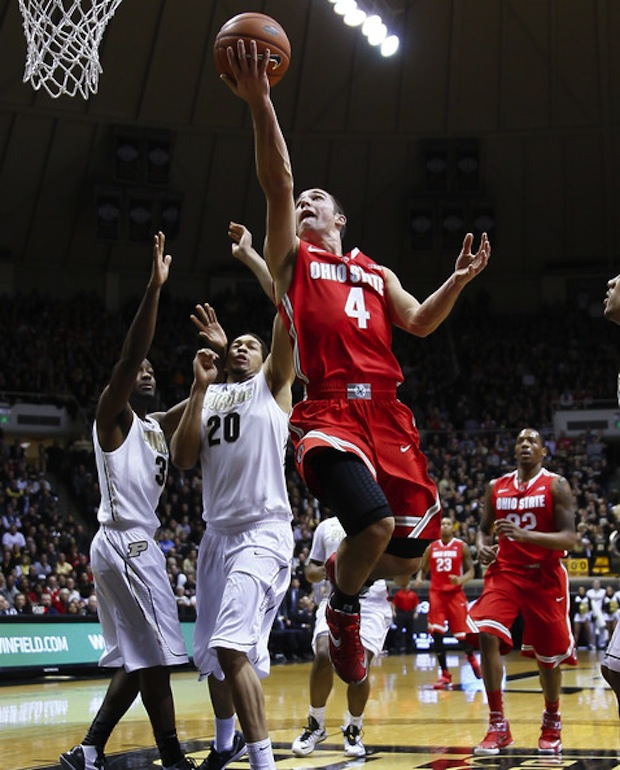 Aaron Craft goes up in a Nike LeBron 11 iD