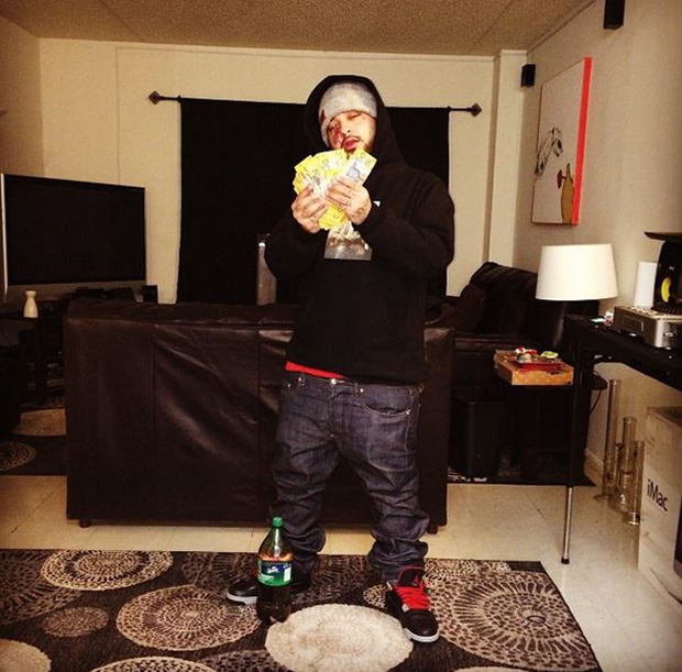 "A$AP Yams with foreign money in the Air Jordan 4 ""Laser"""