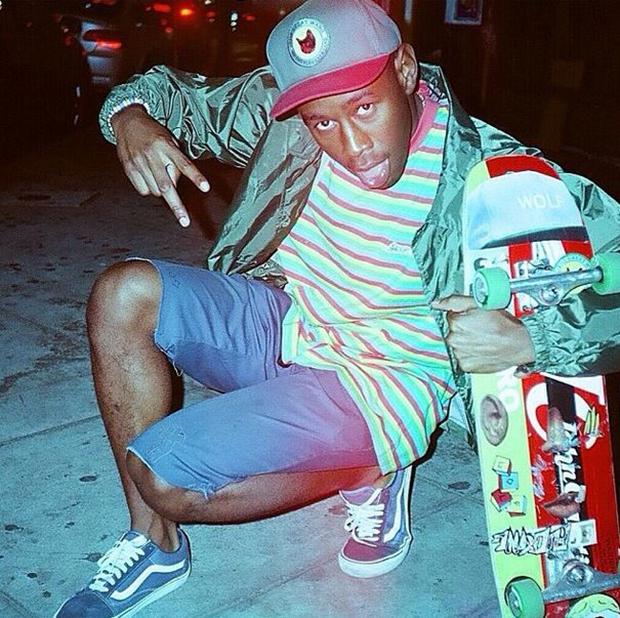 Tyler, the Creator with in the Vans Old Skool