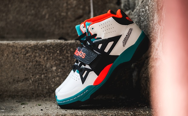 buy popular f38c9 f963e adidas Mutombo TR Block White Teal-Orange