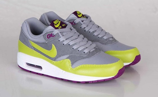 Nike Womens Air Max 1 Essential Wolf Grey Venom Green