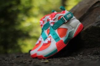 Nike Air Raid Breeze White Atomic Mango Turbo Green