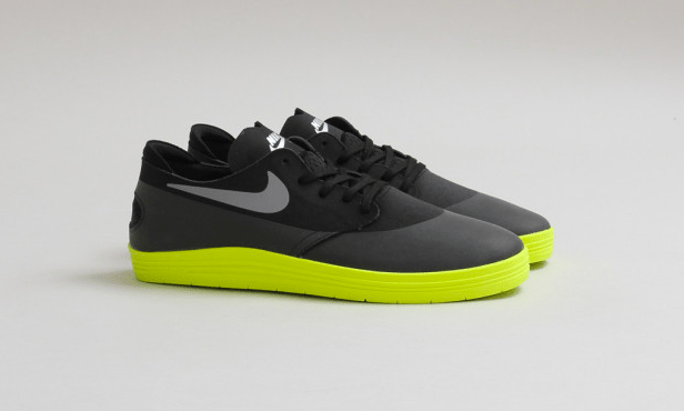 new product 48fa5 28eda Nike SB Lunar One Shot Black Reflective Silver-Volt