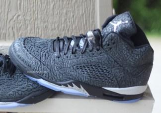 """online retailer aa8c0 c7c39 Air Jordan 5 """"3LAB5"""" Black Metallic Silver Another Look"""