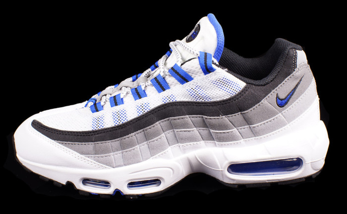 nike air max 95 white and blue