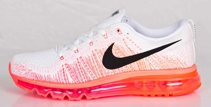 sale retailer 833b6 5e844 Nike Flyknit Air Max White/Hyper Punch | Nice Kicks