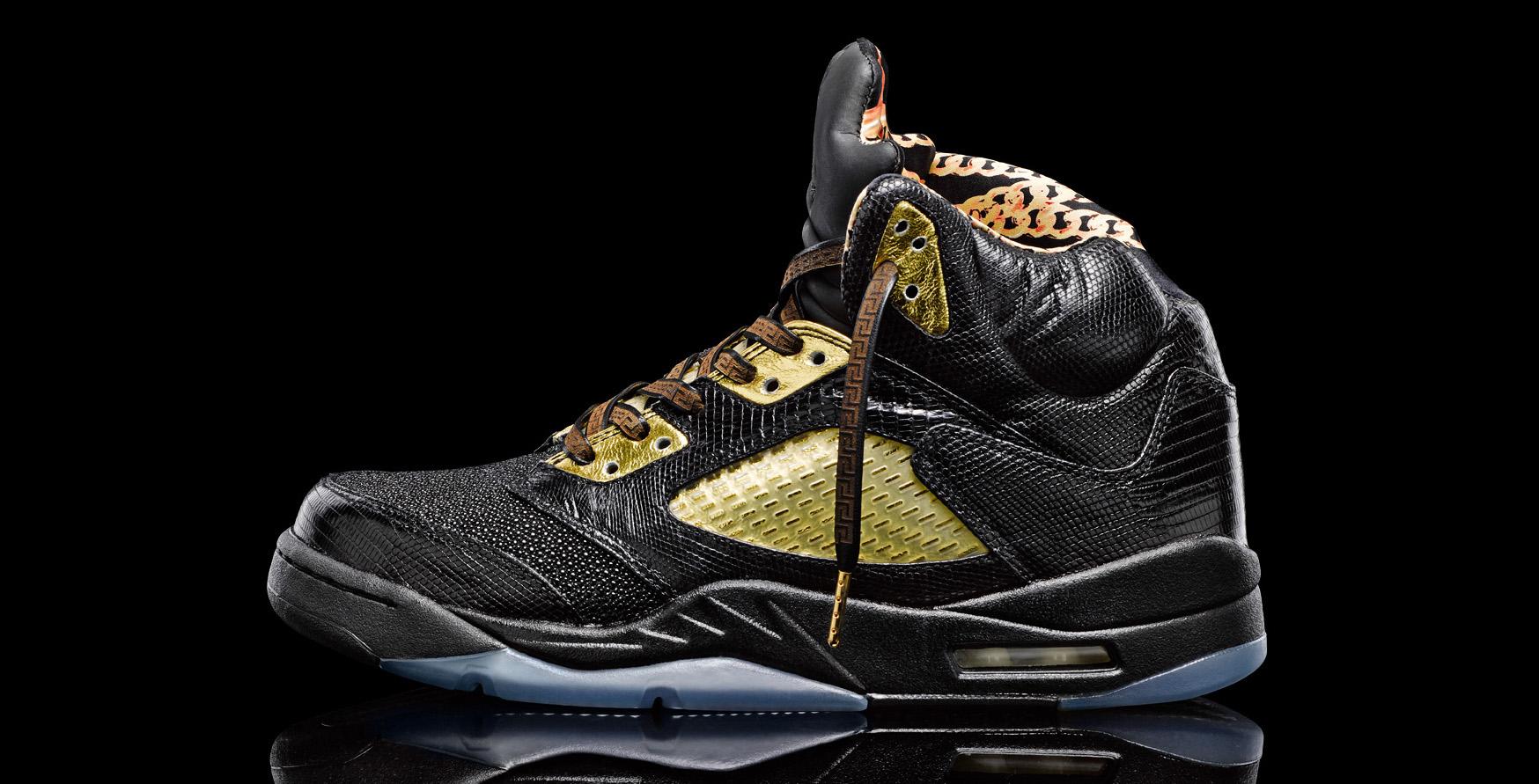 "sale retailer 54f98 99a0e Air Jordan 5 ""Versace-Inspired"" Custom"