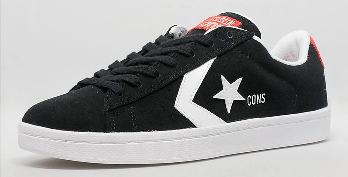 1c3493b6061 Converse Pro Leather 76 Skate Ox Black White-Red