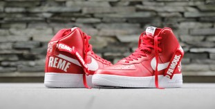 "d41cbd44849240 Up Close with the Supreme x Nike Air Force 1 High ""Red"""