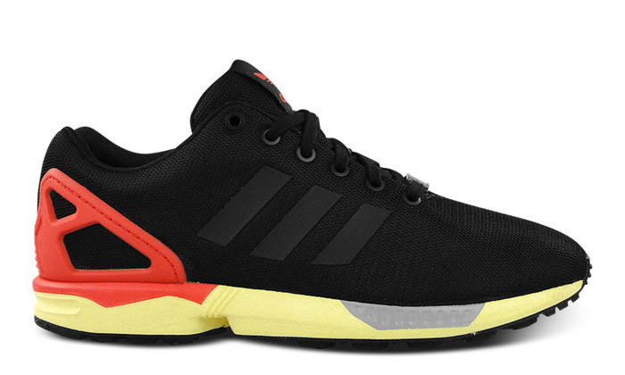 hot sale online 1e579 704ad adidas ZX Flux Core Black/Red-Yellow | Nice Kicks