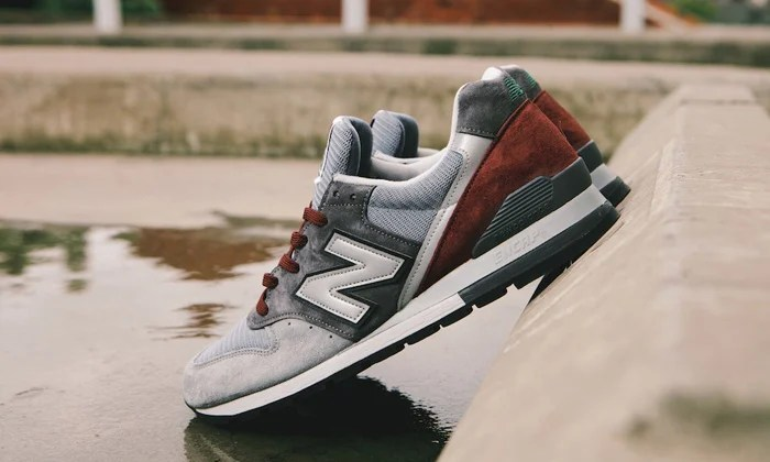 new product 18413 25091 New Balance 996 Grey/Burgundy-Green | Nice Kicks