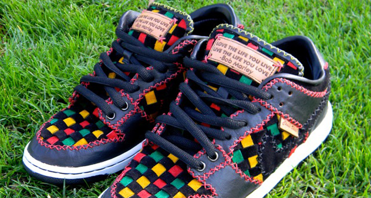 e30ddf64ffd best price nike dunk low bob marley inspired custom for shane victorino  nice kicks ddcca 7f7ea