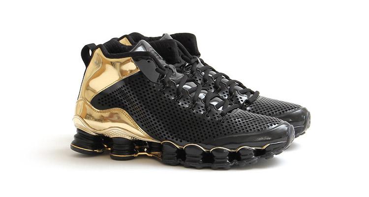 sale retailer 5d58c 23a03 ... Nike Shox TLX Mid SP Black Metallic Gold ...