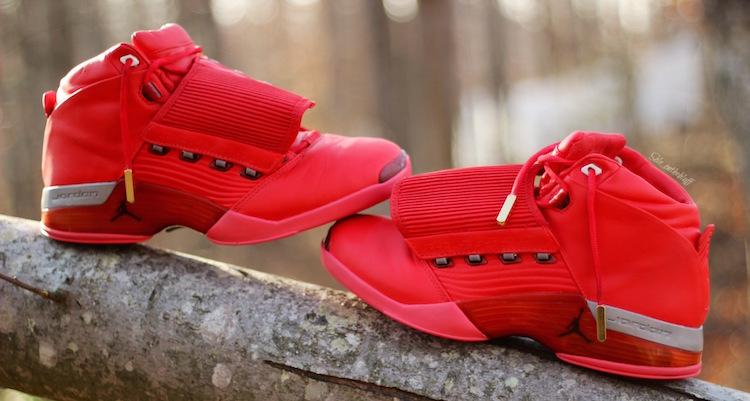 """4c0d3da56debf Air Jordan 17 """"Red October"""" Custom"""