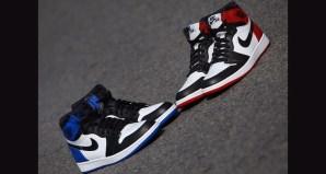 Fragment Design x Air Jordan 1 vs. Air Jordan 1 Black Toe Comparison