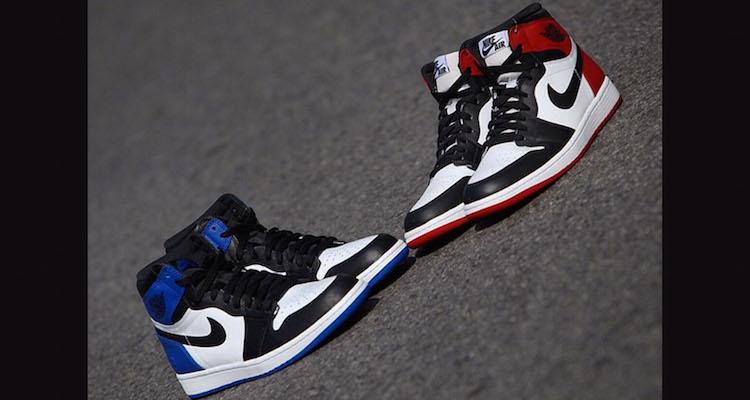 "09b07c0edfb248 Fragment Design x Air Jordan 1 vs. Air Jordan 1 ""Black Toe"" Comparison"