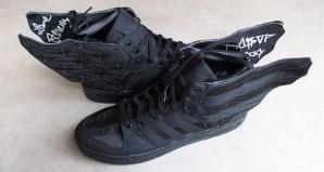 af8039c544cf A AP Rocky x Jeremy Scott x adidas Originals Wings 2.0 Black Flag ...