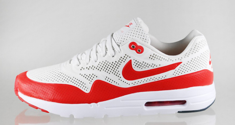 Nike Air Max 1 Ultra Moire Summit WhiteChallenge Red   Nice