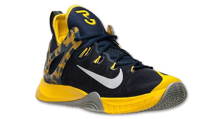 a39ade99323 Nike Zoom HyperRev 2015 Paul George PE Navy Tour Yellow