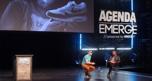 Tinker Hatfield on stage at Agenda Emerge