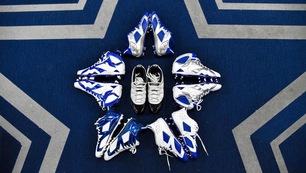 Dez Bryant's Air Jordan Cleat Collection
