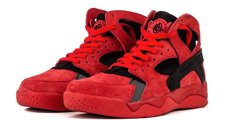 Nike Air Flight Huarache Red Suede