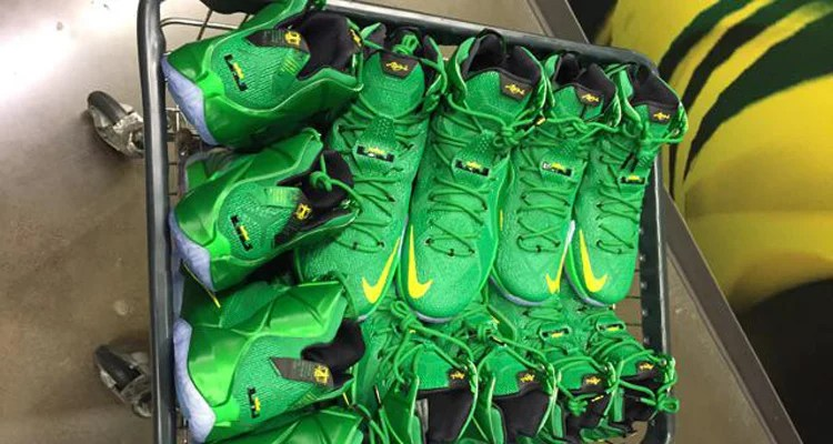 huge selection of 4eb60 08411 Nike LeBron 12 Oregon PE Another Look