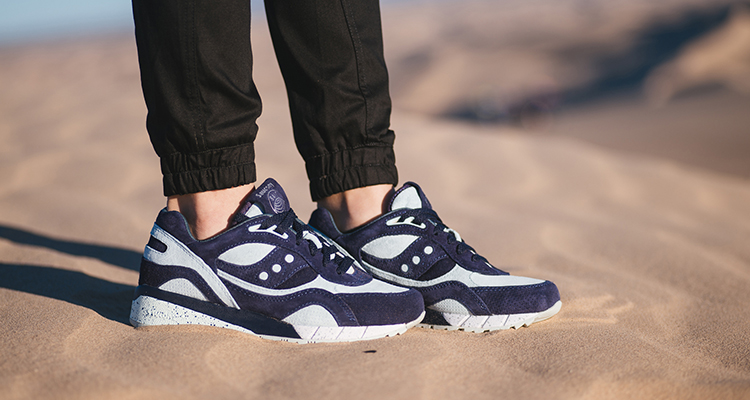 "7c186c541cf6 BAIT x Saucony Shadow 6000 Cruelworld 5 ""New World Water"" On-Foot Images"