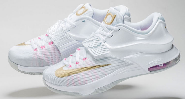 free shipping 2ec87 47f40 ... white metallic gold pink pow pure platinum 575aa 70907  low price nike  kd 7 aunt pearl detailed images nice kicks c98c7 81586