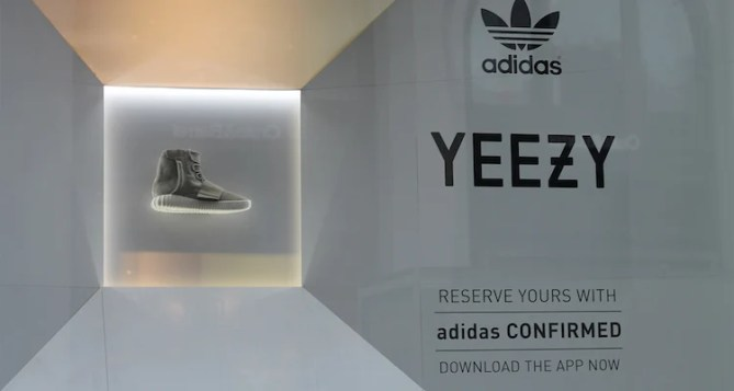 The Yeezy 750 Boost Is on Display at adidas' NYC Store