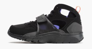 competitive price f32c3 14f6c Nike Air Trainer Huarache Black Violet-Orange Available Now