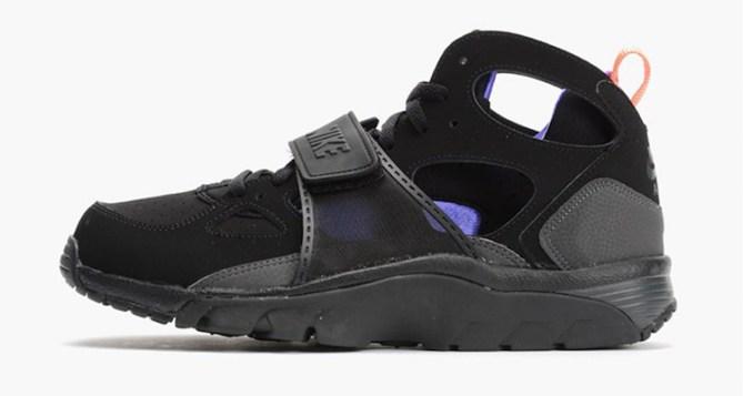 Nike Air Trainer Huarache Black/Violet-Orange Available Now