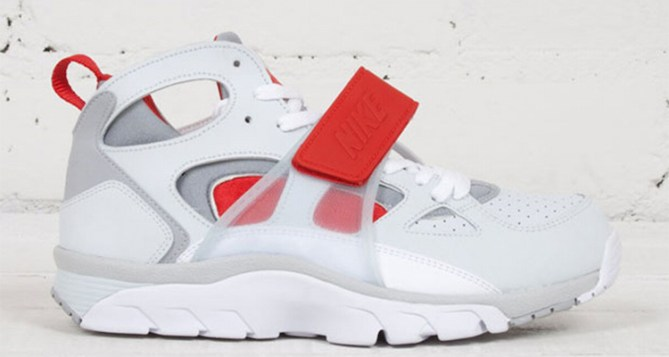 Nike Air Trainer Huarache Pure Platinum/Wolf Grey–University Red Available Now