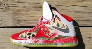 Nike LeBron 10 Before HeRose Customs by GourmetKickz