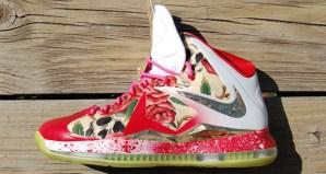 Nike LeBron 10 Before HeRose Customs by GourmetKickz