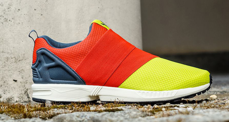 promo code 4f459 24eb2 adidas ZX Flux Slip-On Solar Yellow Red Available Now