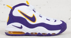 """promo code e40b0 88578 Nike Air Max Uptempo """"Lakers"""" Available Now"""