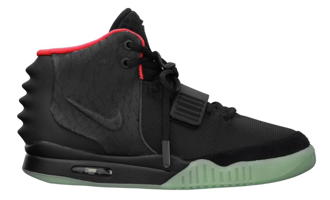 Nike Air Yeezy 2 Black Solar Red
