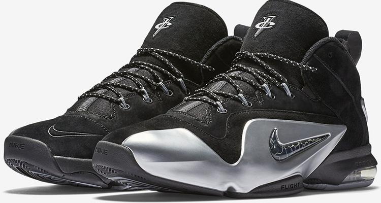 17211bcb7a269 Nike Air Penny 6 Black Metallic Silver