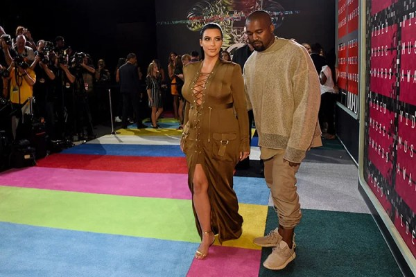 Kanye West Wearing Beige Adidas Yeezy 350 Boosts